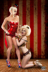 Latex Circus Ringmaster Playsuit with Tails