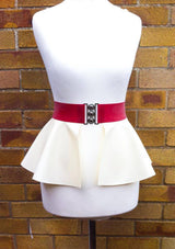 Latex Peplum Belt