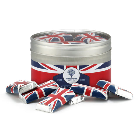 Union Jack Red, White and Blue Chocolate Beans in a Victorian Jar