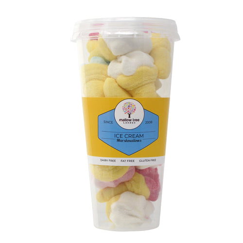 Vanilla Flavoured Ice Cream Shape Marshmallow in a Cup 120 g