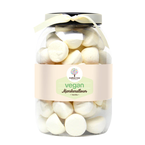 Vegan Vanilla Flavoured Marshmallow Balls in a Gift Jar 700 g