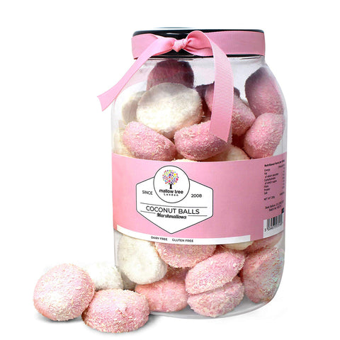 Strawberry Flavoured Marshmallow Balls in a Gift Jar 600 g