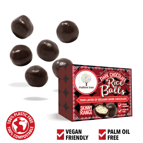 Dark Belgian Chocolate Rice Balls in a Snack Box x10
