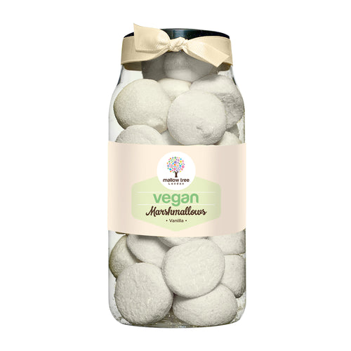 Vegan Vanilla Flavoured Marshmallow Balls in a Gift Jar 250 g