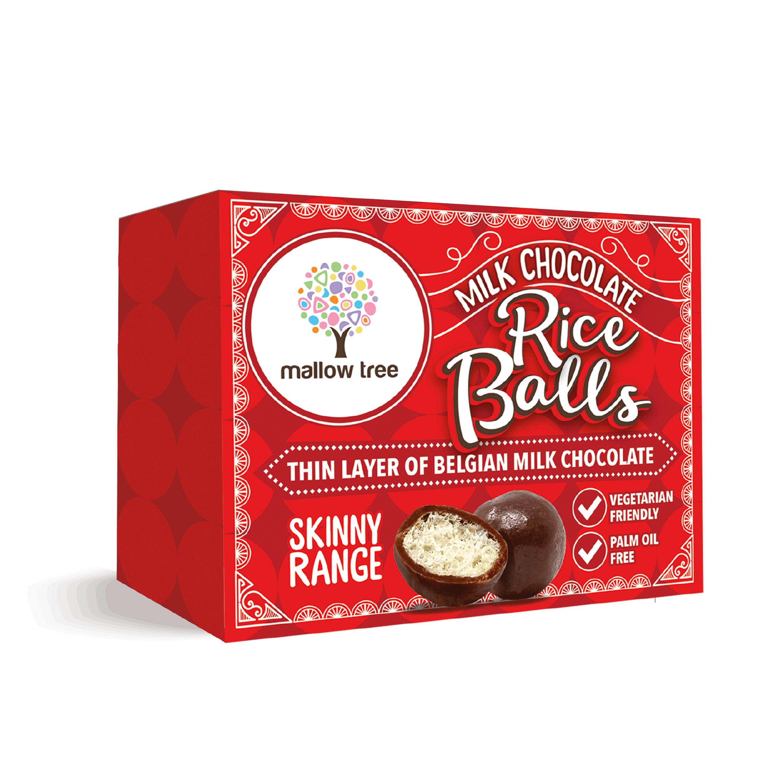 Milk Belgian Chocolate Rice Balls in a Snack Box x10