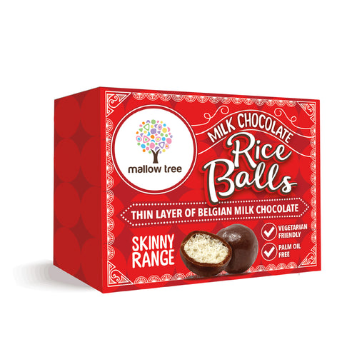 Milk Belgian Chocolate Rice Balls in a Snack Box