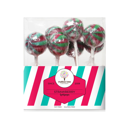 Strawberry Flavoured Lollipops in a Gift Box 200 g