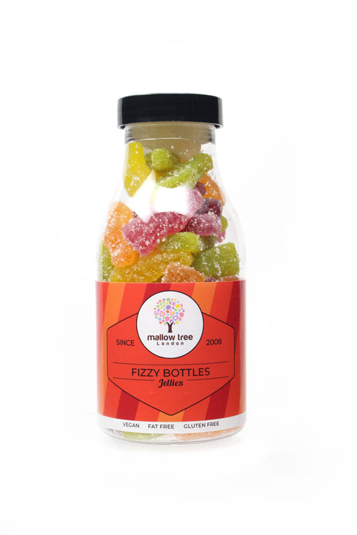 Vegan Fizzy Fruity Bottle Jellies in a Milk Bottle 240 g