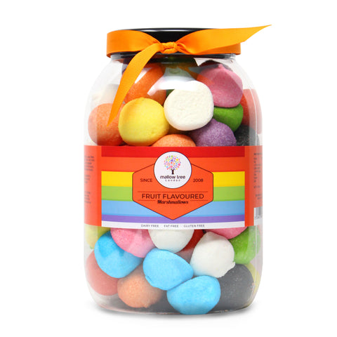 Vanilla Flavoured Ice Cream Shape Marshmallow in a Gift Jar 600 g