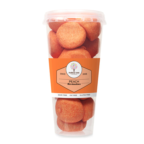 Peach Flavoured Marshmallow Balls in a Cup 135 g