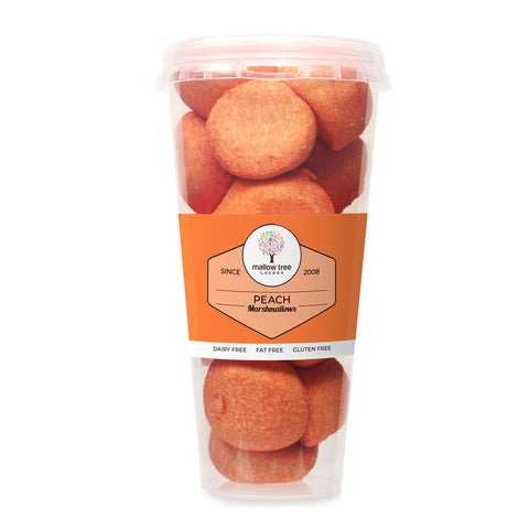 Peach Flavoured Marshmallow Balls in a Gift Jar 600 g