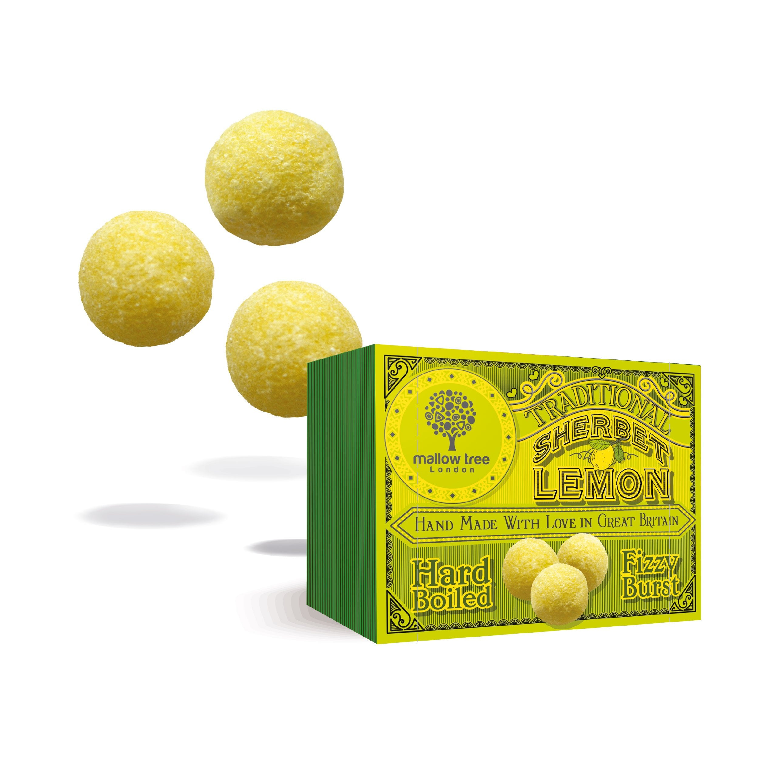 Traditional Sherbet Lemons in a Snack Box x10