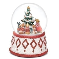 Dogs Musical Snow Globe