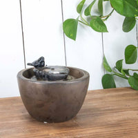 Bronze Bird Leaf Fountain