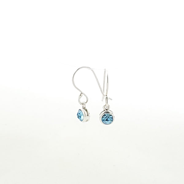 Light blue birthstone for March (aquamarine) earrings