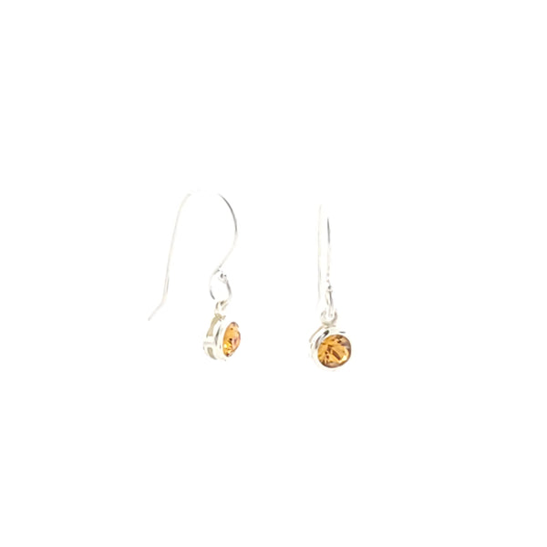 Swarovski crystal sterling silver birthstone earrings