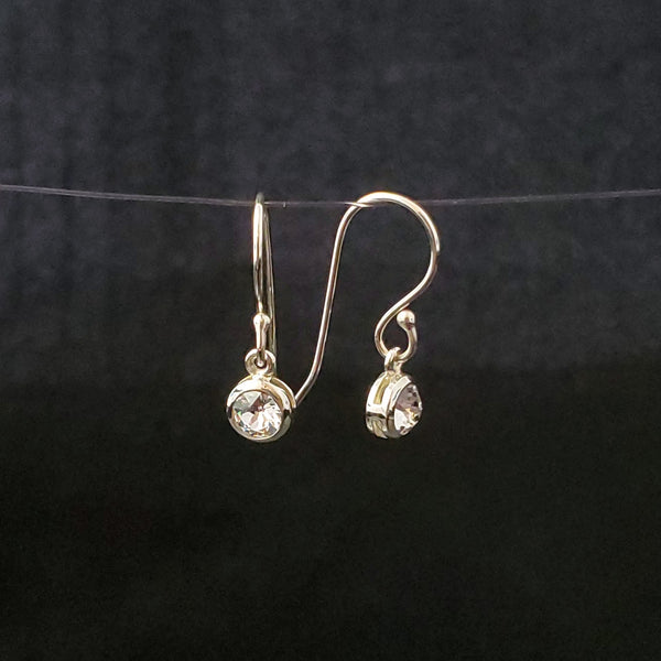 April birthstone (diamond) crystal earrings