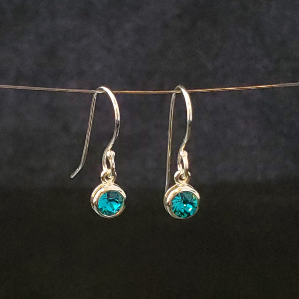 December birthstone (zircon) crystal earrings