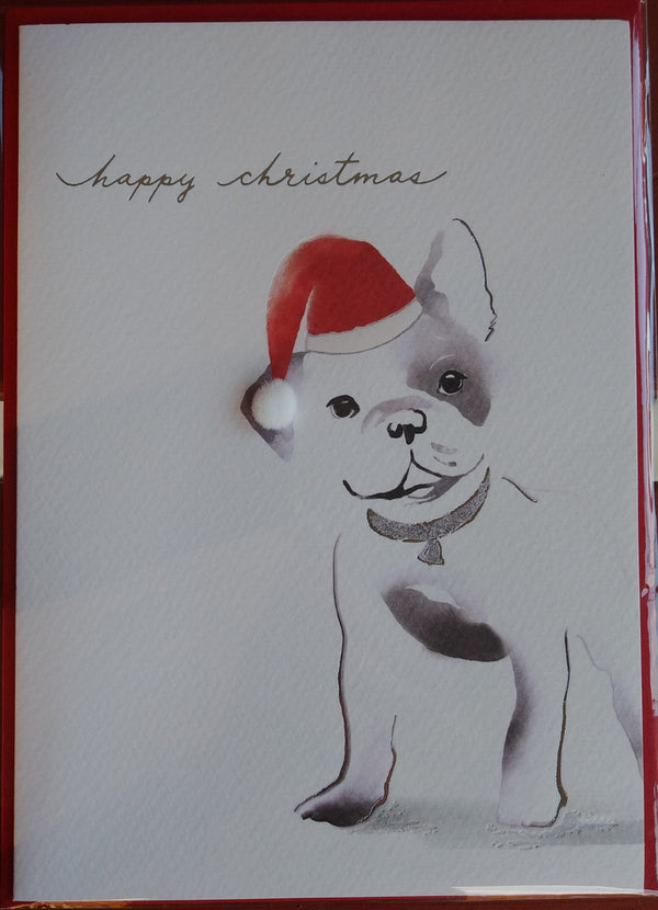 Frenchie Christmas Card