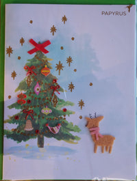 Xmas Tree Deer Sweet Card