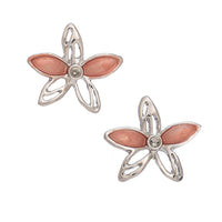 Flower Orange Stud Earrings