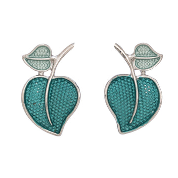 Lg Leaf Green Earrings