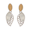 Leaf Oval Inset Earrings