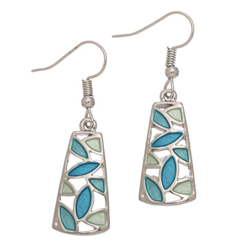 Hang Blue Grn Earring