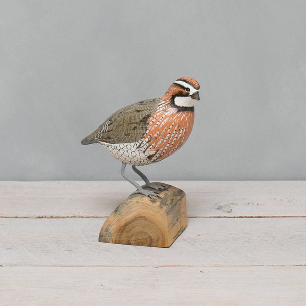 Bobwhite Wooden Bird
