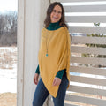Zip Shoulder Poncho