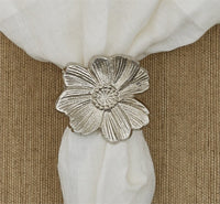 Metal flower napkin ring