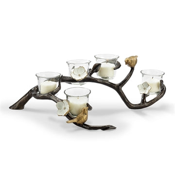 Lovebirds Votive Candle Holder