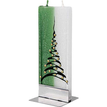 Flat Christmas Tree Candle