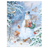"24"" Snowman Lighted Print"