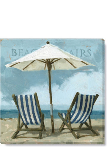 Beach Chairs Giclee Wall Art