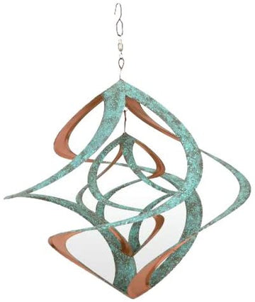"14"" Cosmix Patina Wind Spinner Hanging"