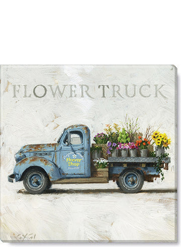 Flower Truck Giclee Wall Art
