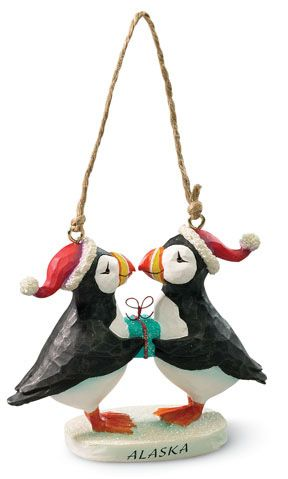 Puffins Present Ornament - *Maine, not Alaska*