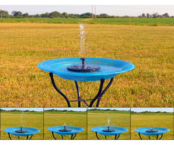 Floating Solar Bird Bath Bubbler