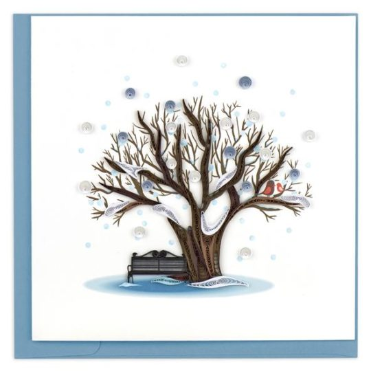Quilled Winter Tree Card