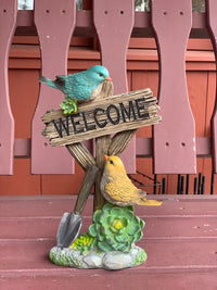 Two Bird Welcome Sign