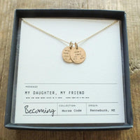 Morse Code Daughter Necklace 14k Gold Fill
