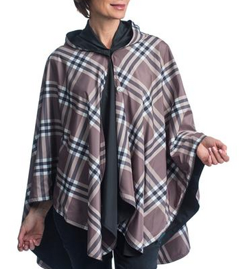 Black & Coco Plaid Wind Rainproof Cape