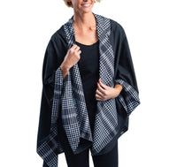 Black & White Houndstooth Rainproof Cape