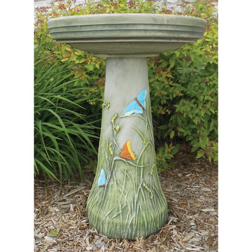 Butterfly Hand Painted Bird Bath - CAN SHIP - or - PRE ORDER - ARRIVES EARLY MARCH 2021