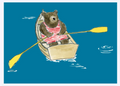 Bear Rowboat Birthday Card