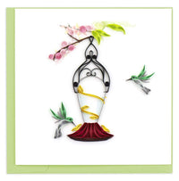 Hummingbird Feeder Quill Card