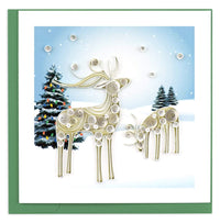 Snowy Reindeer Quill Card