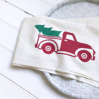 Christmas Truck Tea Towel