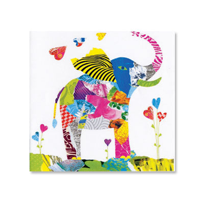 Colorful Elephant Birthday Card